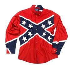 "Rodeo-Hemd ""Rebel-Flag\"""