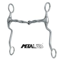 "Metalab Alu Snaffle-Bit mit Shanks ""Square Twisted\"""