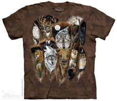 "T-Shirt ""Animal Feathers\"" - Gr. XL (XXL)"