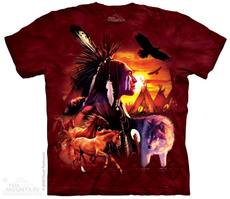 "T-Shirt ""Indian Collage\"" - Gr. XL (XXL)"