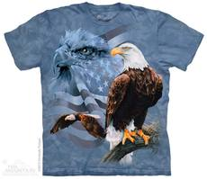 "T-Shirt ""Faded Flag & Eagles\"""