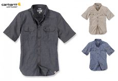 "Chambray-Hemd ""Fort Solid\"" - schwarz - Gr. XL"
