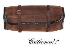 "Cattleman´s Runde Satteltasche ""Leather\"""