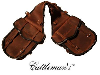 "Cattleman´s Doppel-Satteltasche ""Leather\"""